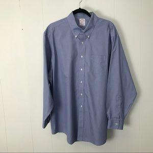 Brooks brothers Madison mens blue shirt 17.5 35